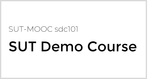 SUT Demo Course sdc101